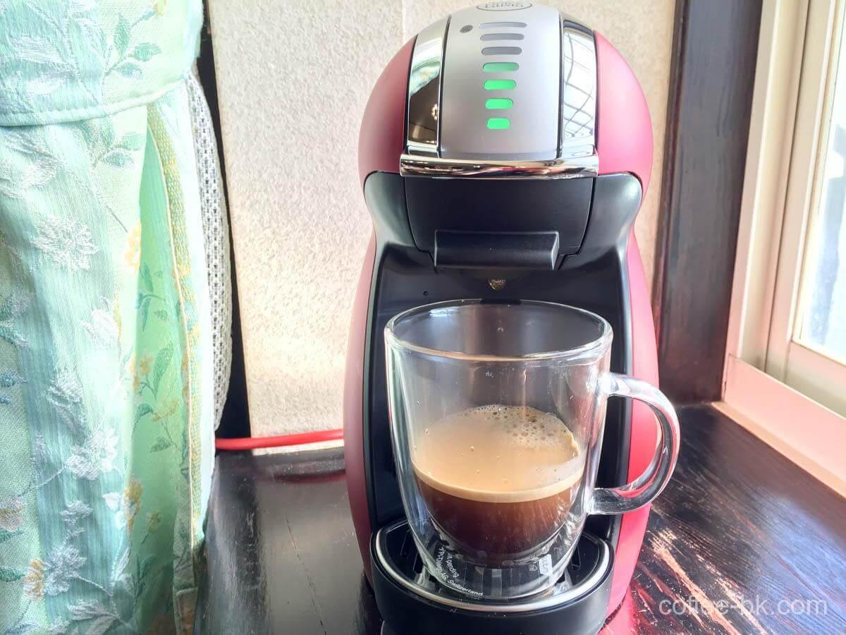ドルチェグストのコーヒーが完成