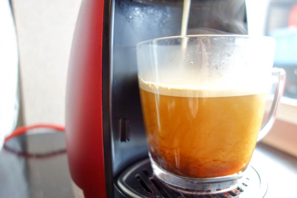 コーヒー抽出開始