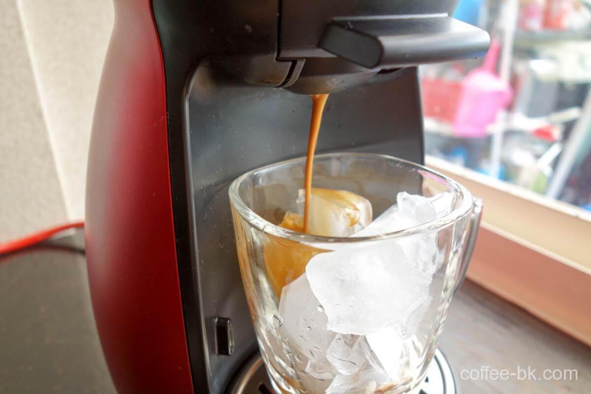 アイスコーヒー抽出開始