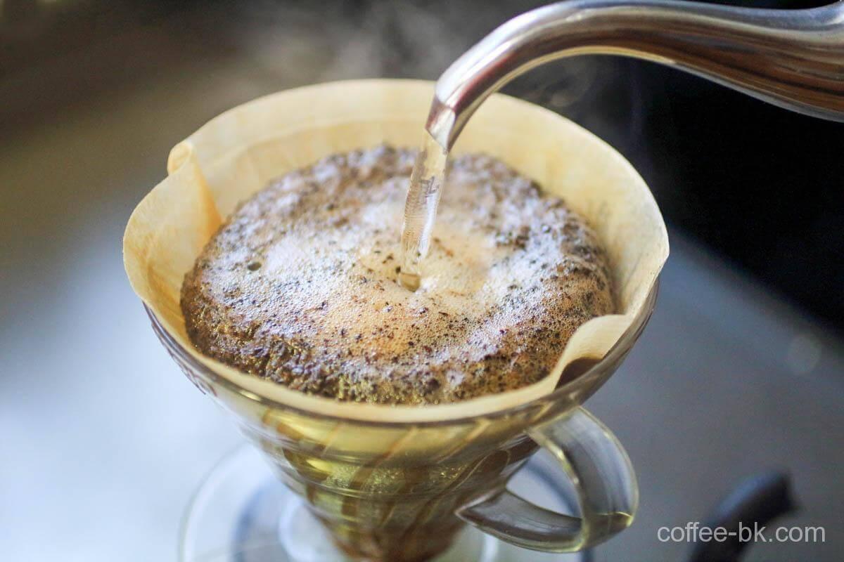 カプセル式コーヒーマシンのドリップポット