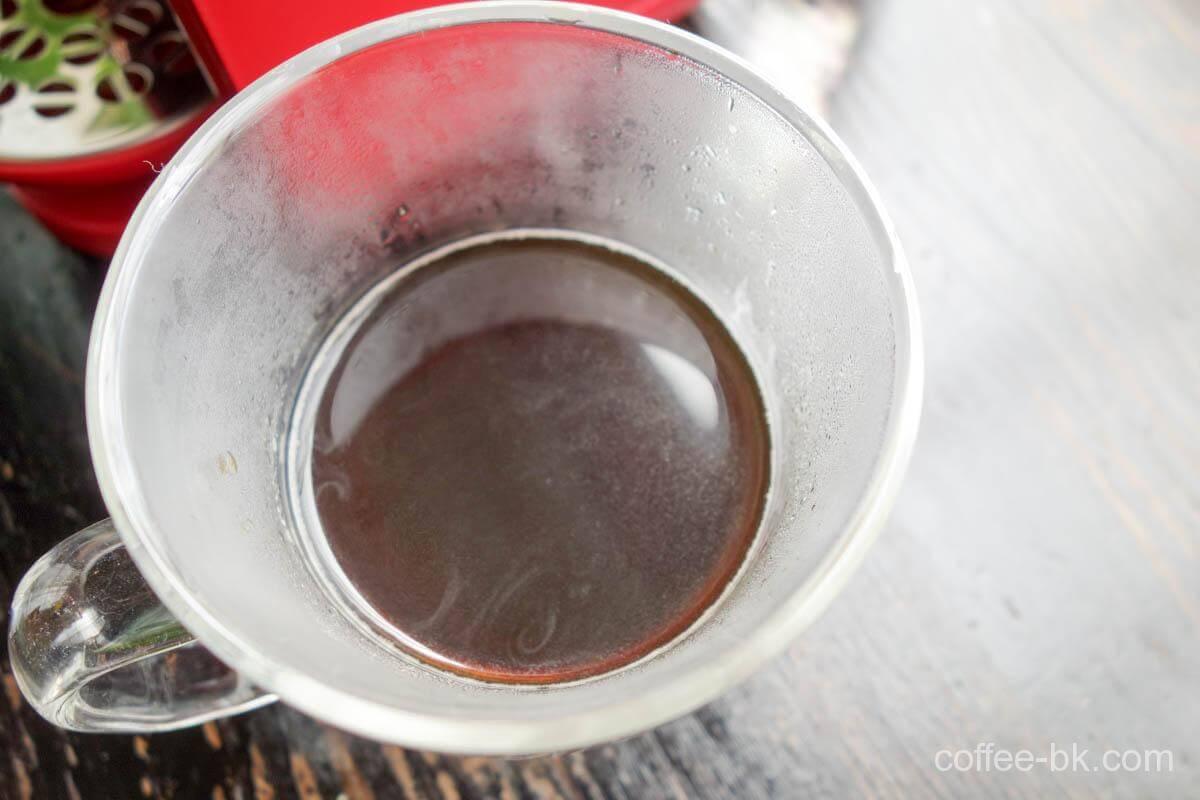 上から見たドリップコーヒー