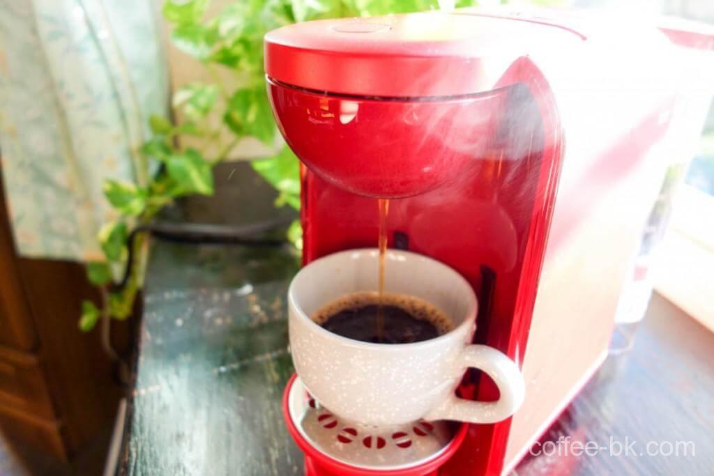 ドリップコーヒー抽出開始