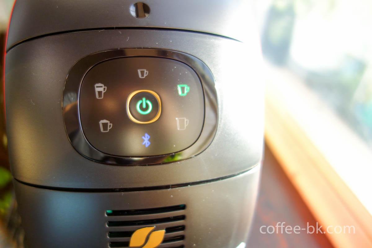 バリスタのコーヒーボタン