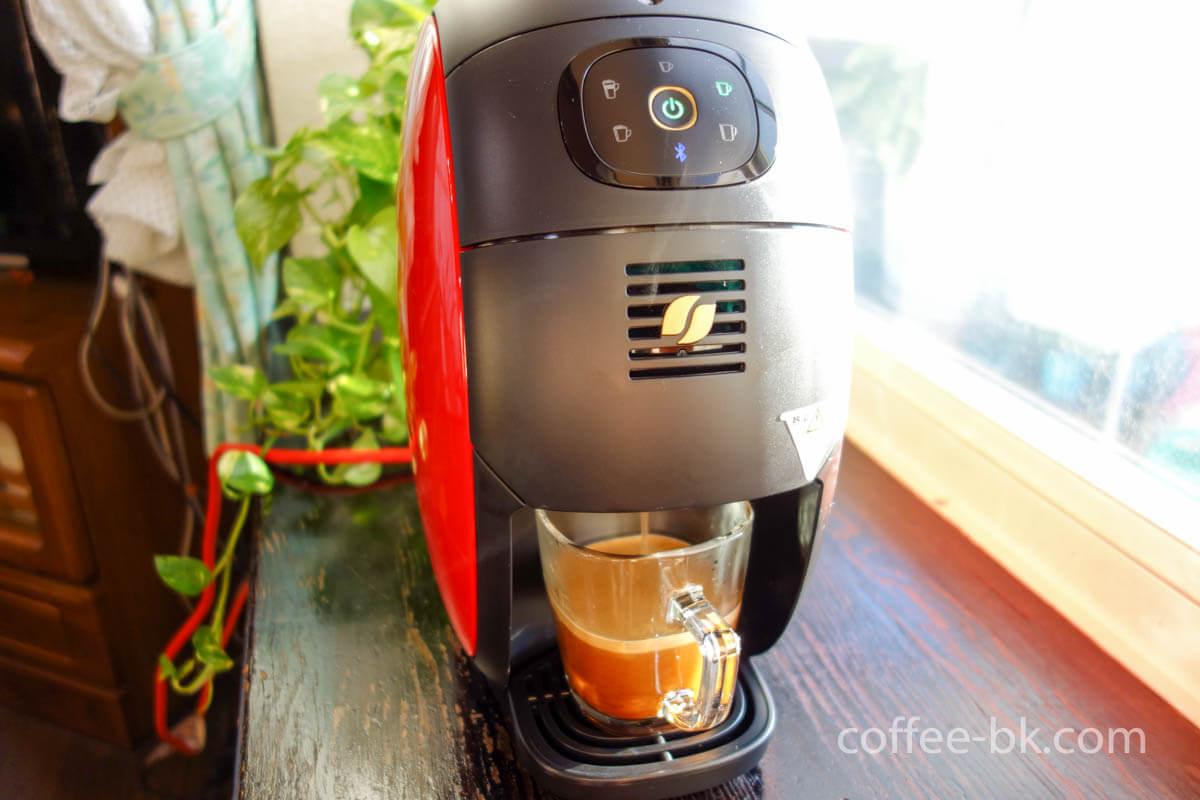 バリスタでコーヒー抽出