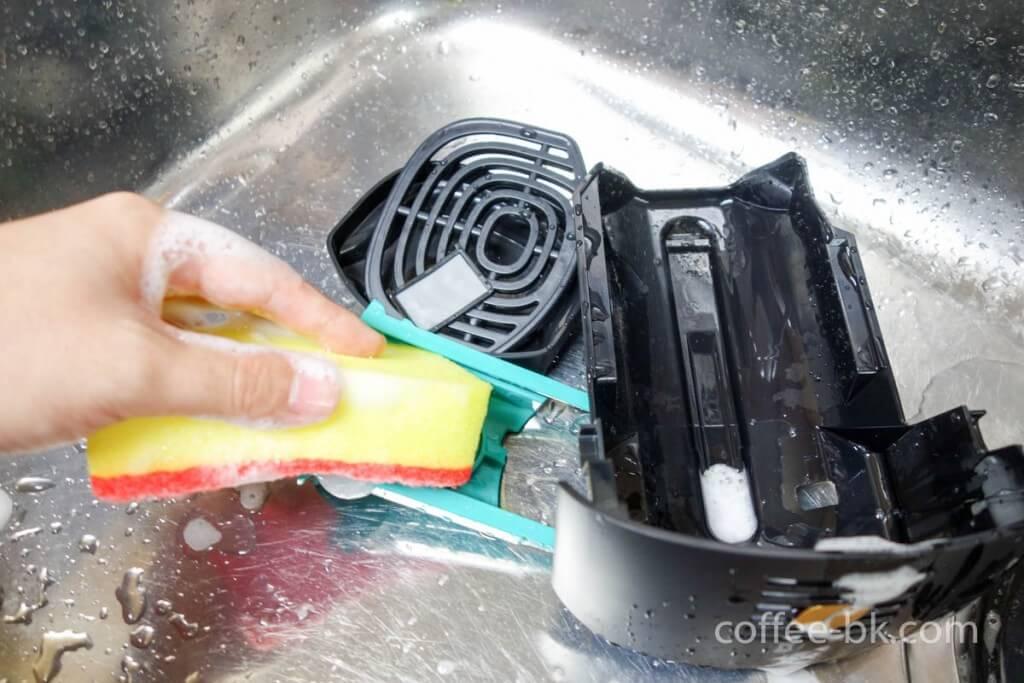 給水部分の洗浄