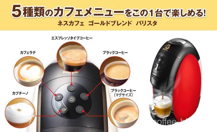 1種類のコーヒーをセットして『5種類のコーヒー』を手軽に作れるコーヒーメーカー