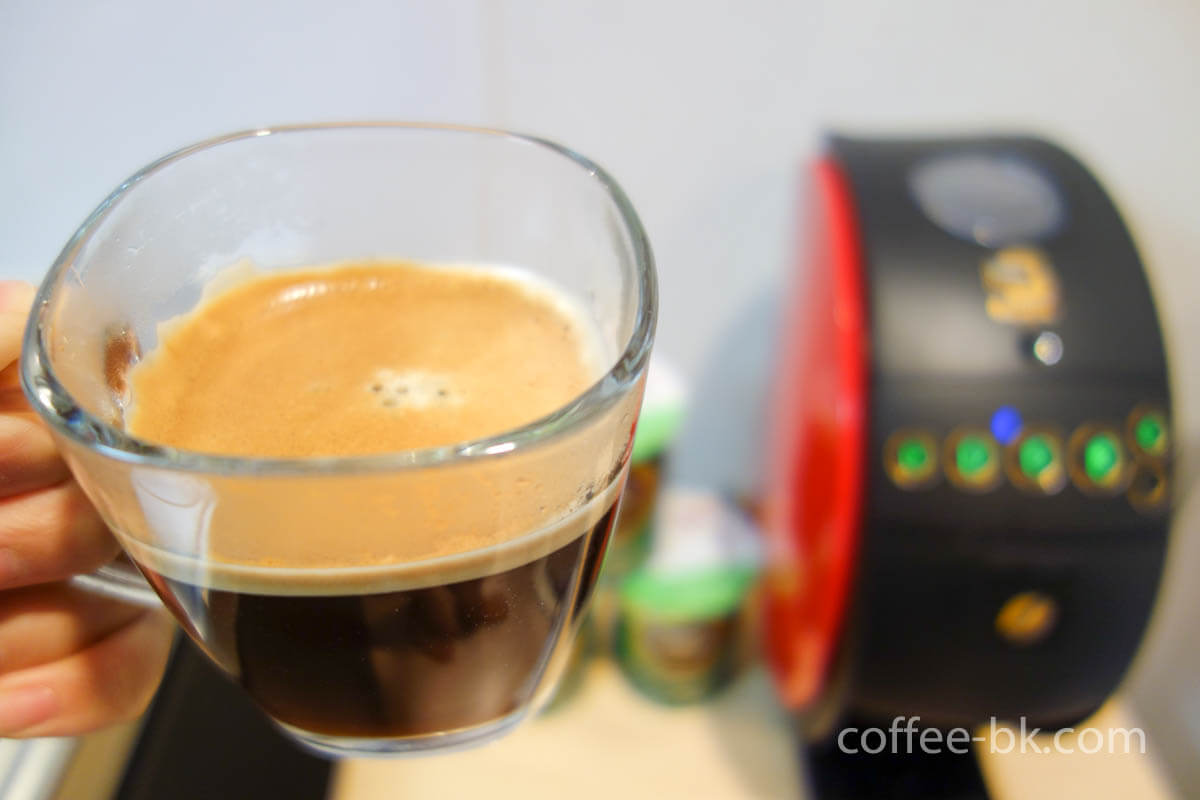バリスタで淹れた美味しいコーヒー