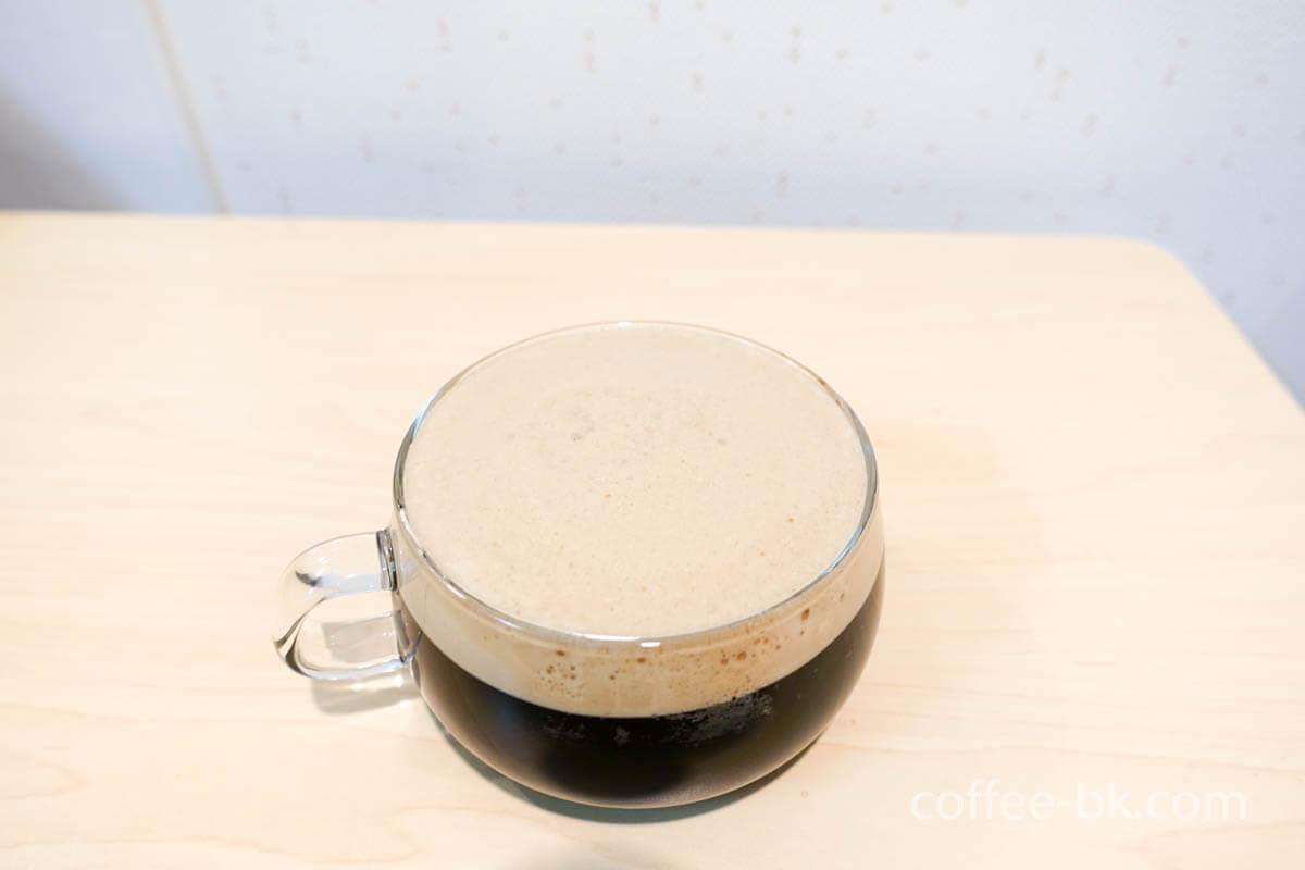 キメ細かいクレマのドラフトコーヒー
