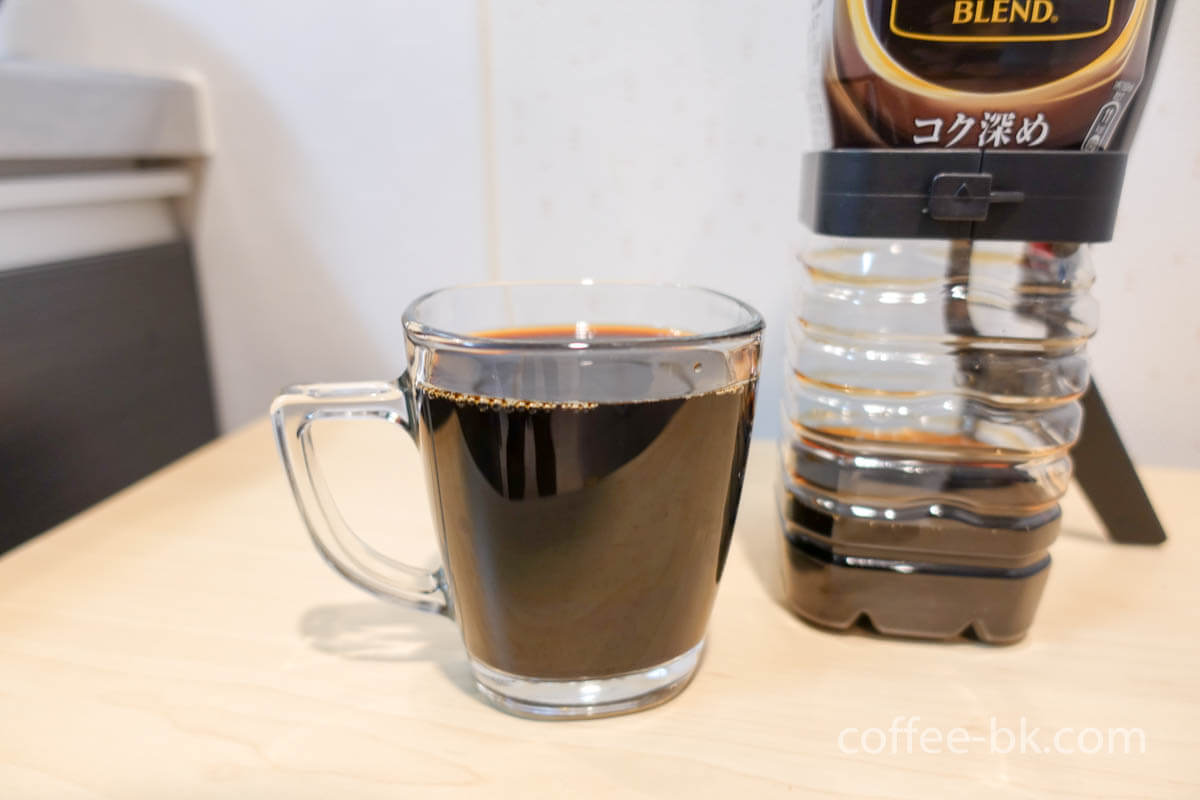 普通のアイスクレマコーヒーも抽出できる