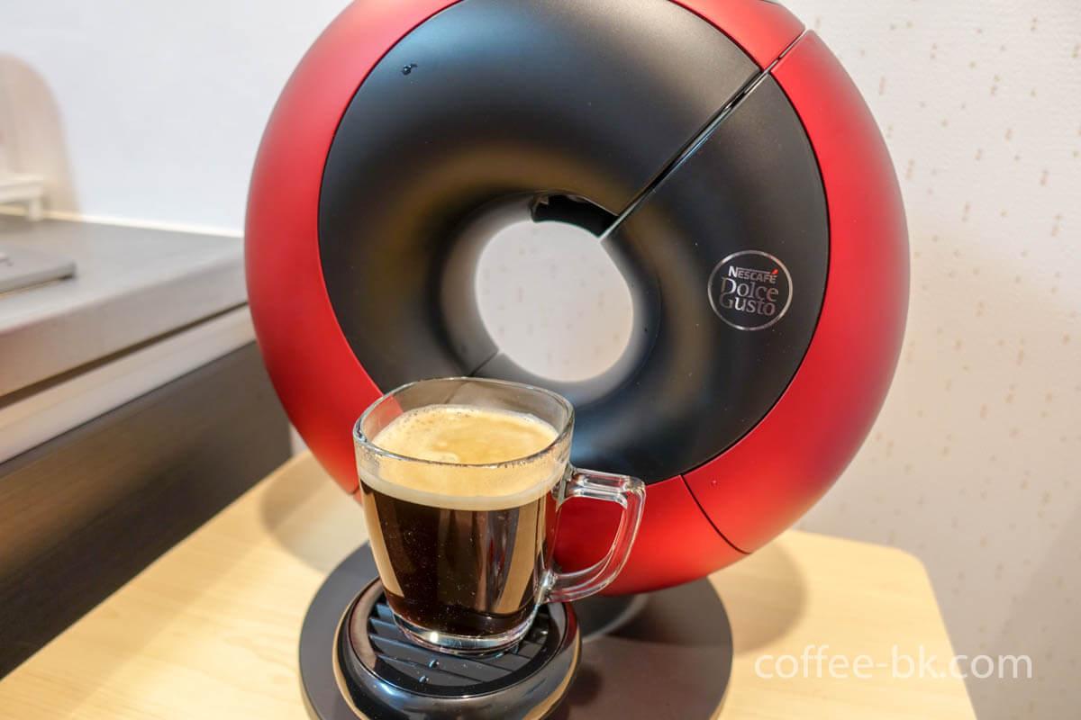 ドルチェグスト エクリプスのコーヒーが完成