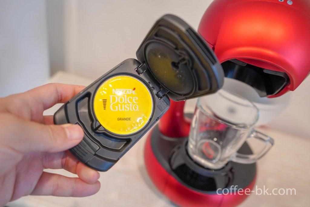 カプセルホルダーへコーヒーをセット