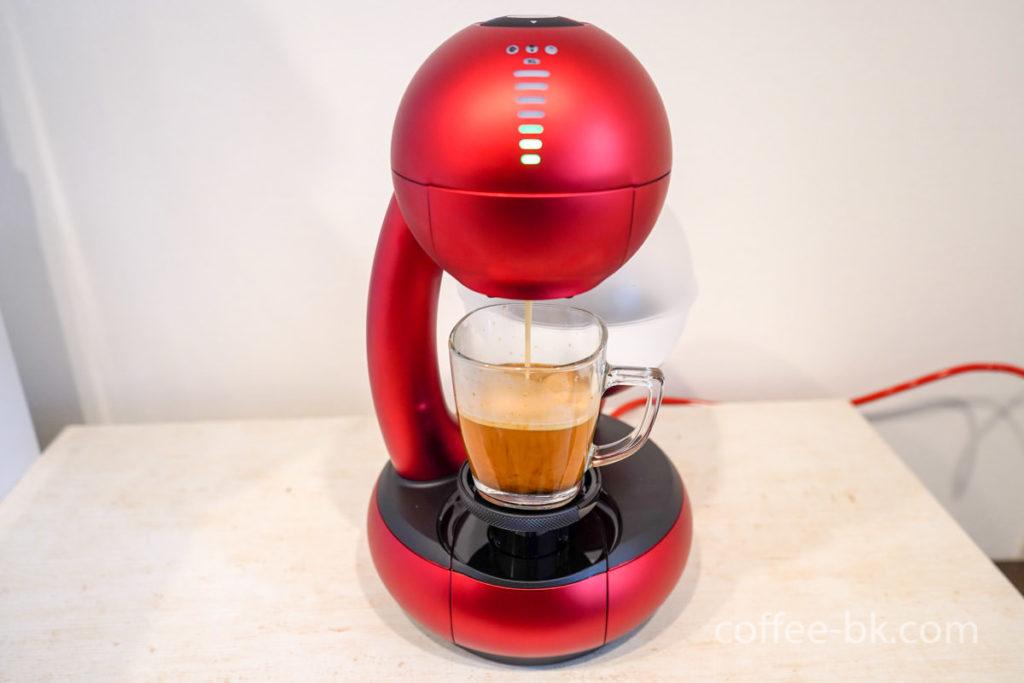 通常のコーヒーを抽出